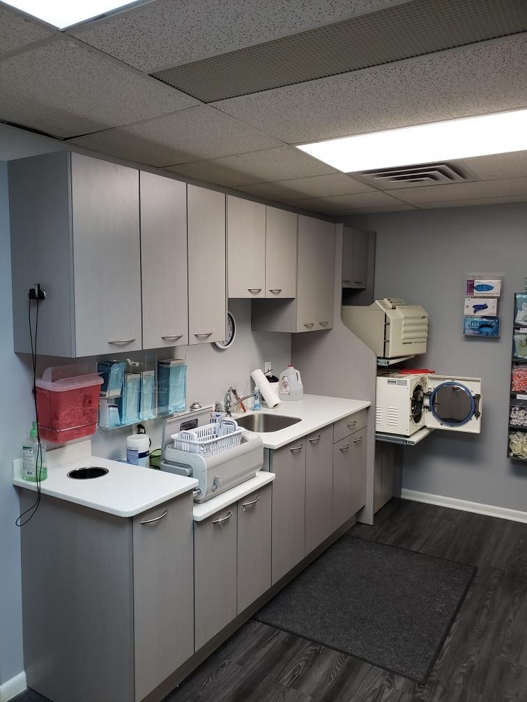 Brunswick Family Dental custom cabinets - W J Miller Builders